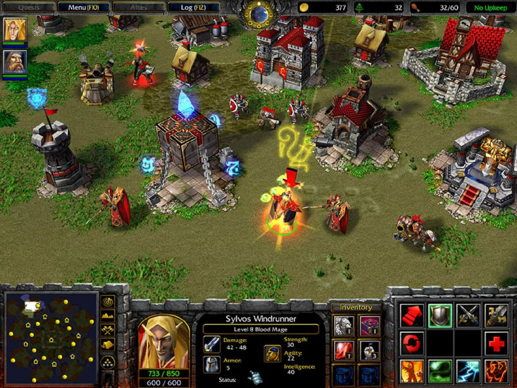 games like command and conquer, warcraft 3, the frozen throne