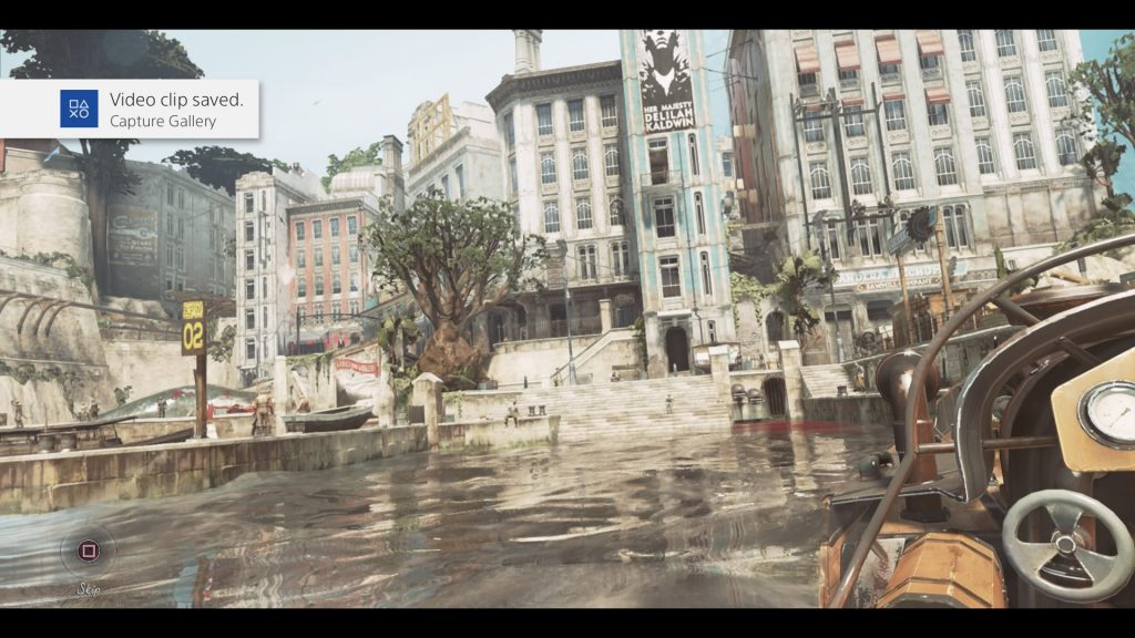Dishonored 2 PS4 gameplay footage
